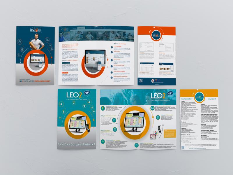 Plaquette societe atoo et logiciel caisse enregistreuse LEO2